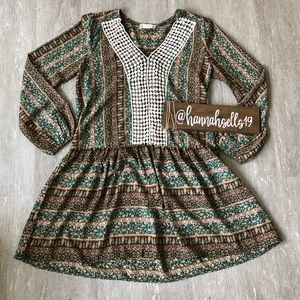 Altar'd State Long Sleeve Dress Size Small